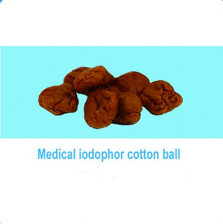 Medical iodophor cotton balls