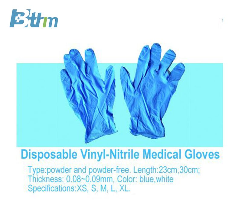 Disposable Vinyl-Nitrile Medical gloves